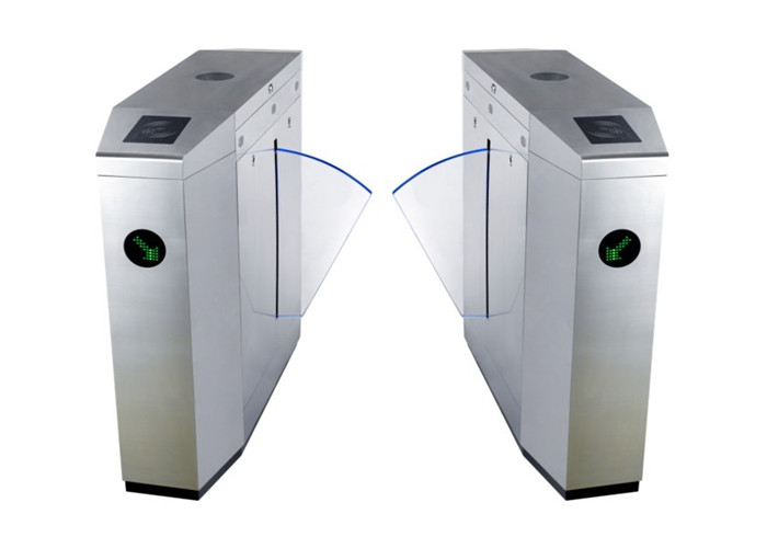 Gym / Stadium Full Automatic Flap Barrier Turnstile Barrier Gate With LED Lamp