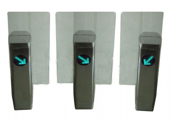304 Stainless Steel Access Control Turnstiles / Turn Style Gate 1.2mm Thickness
