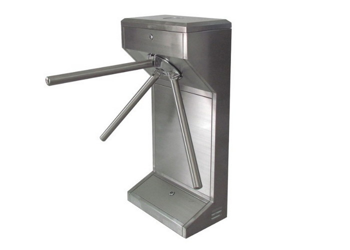 Entrance Control Stainless Steel Turnstile Small Footprint Pedestrian Turnstile