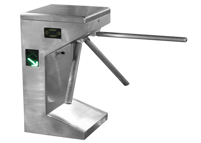 Waist Height Full Automatic Security Turnstile Gate Barrier For Access Control System