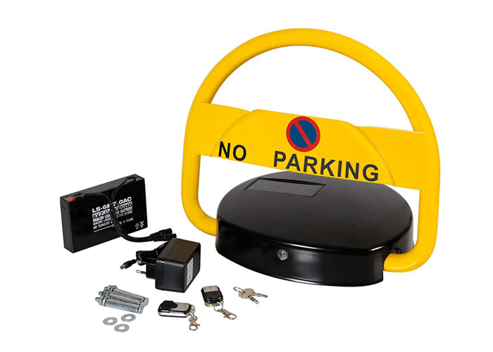 Solar Powered Car Parking Lock Remote Control DC6V 7Ah Battery Easy To Install