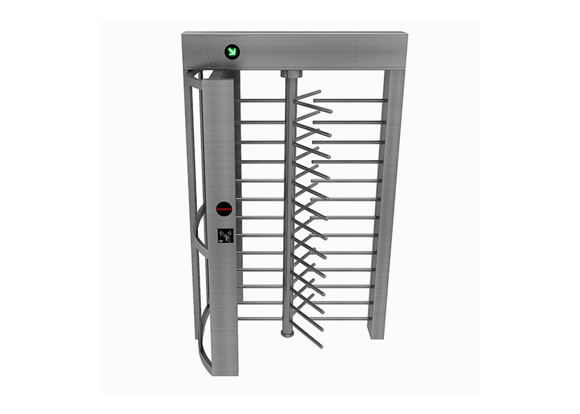Single Lane Arc Frame Full Height Turnstile , Pedestrian Barrier Gate Bi - Directional