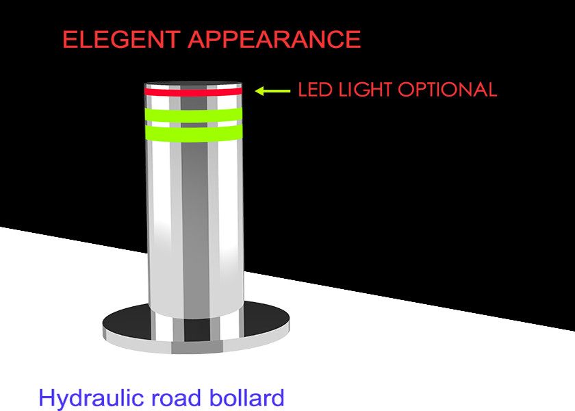 Electric Mechanical 304 STAINLESS STEEL Automatic Rising Bollards For Anti Terrorist